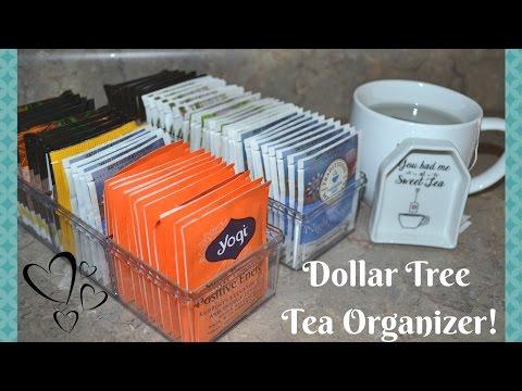 DOLLAR TREE DIY TEA ORGANIZER IDEA! HOW TO ORGANIZE TEA! IDEA