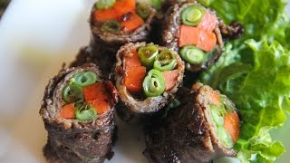 Beef Roll Up With Vegetables Recipe - Japanese Cooking 101