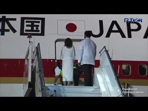 Japanese Prime Minister Abe arrives in Davao City