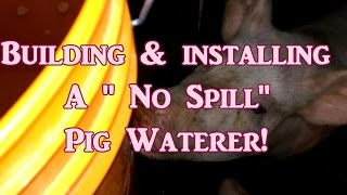 "Building A ""No Spill"" Pig Waterer"