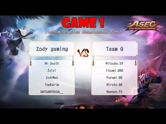 [Gi?i ASEC Onmyoji Arena 2018] Vòng Chung K?t Game 1: ZODY vs Team G - Cân kèo là ?ây