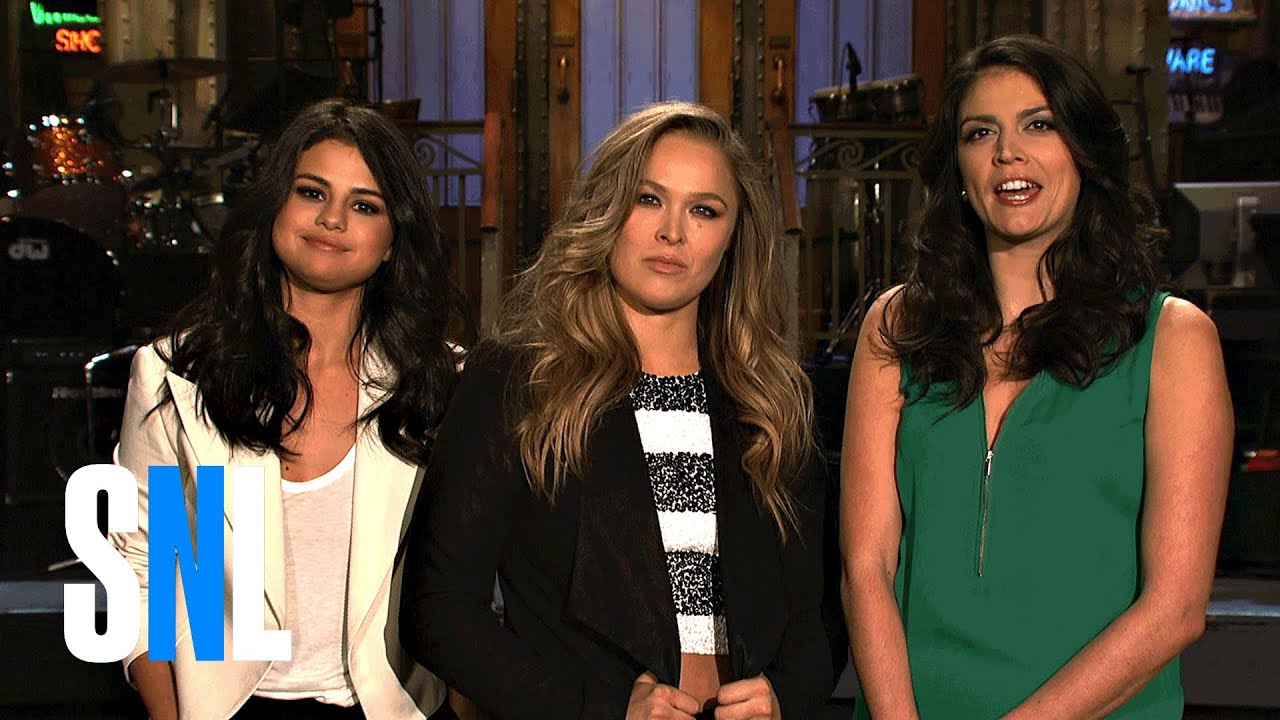 SNL Host Ronda Rousey and Selena Gomez Call Boys with Cecily Strong