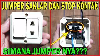 Cara Pemasangan Kabel Jumper di Stop Kontak yang Bergabung dengan Saklar Engkel