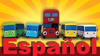 Diez autobuses (de Las ruedas del autobús) | LittleBabyBum canciones infantiles HD 3D