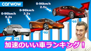 【加速のいい車ランキング!】0-96km/h タイムの世界記録の変遷をランキング
