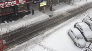 7 Ocak 2017 İstanbul Yoğun Kar Yağışı