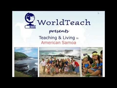 Webinar: Living & Teaching in American Samoa in the Pacific