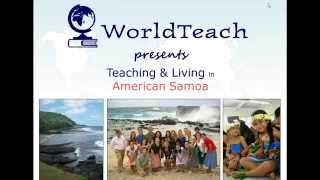 WorldTeach American Samoa Webinar: Living & Teaching in the Pacific