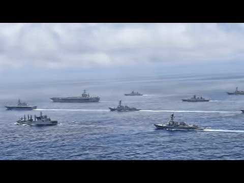 American Aircraft Carrier Leads Mulitnational Strike Group