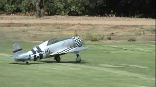 Giant Scale Electric P-47 with Sound System at WCF
