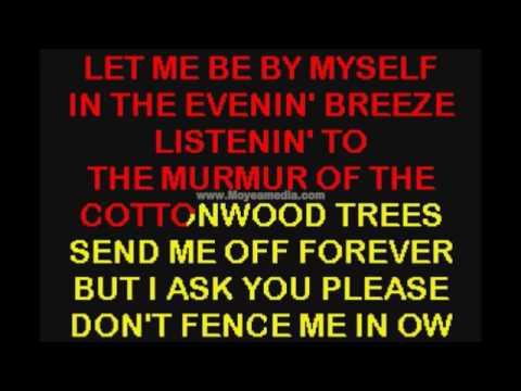 Dont fence me in  Karaoke normal+rockig