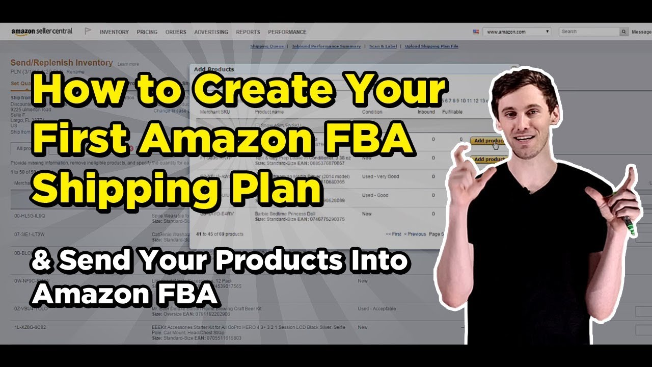 How to Create Your First Amazon FBA Shipping Plan & Send Your Products Into  Amazon FBA
