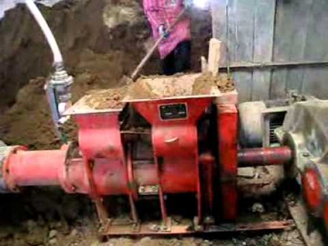 Clay Tile Making Machine Youtube