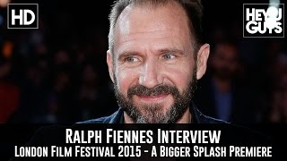 Ralph Fiennes Interview - A Bigger Splash Premiere