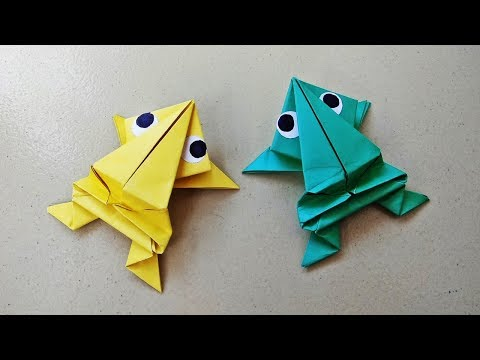 Origami Jumping Frog : How to Make a Paper Frog That Jumps High | Crafts for Kids