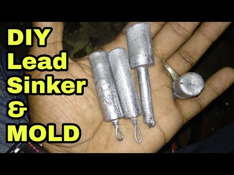 DIY Lead Sinker For Fishing | How To Make Lead Sinker And Mold At Home