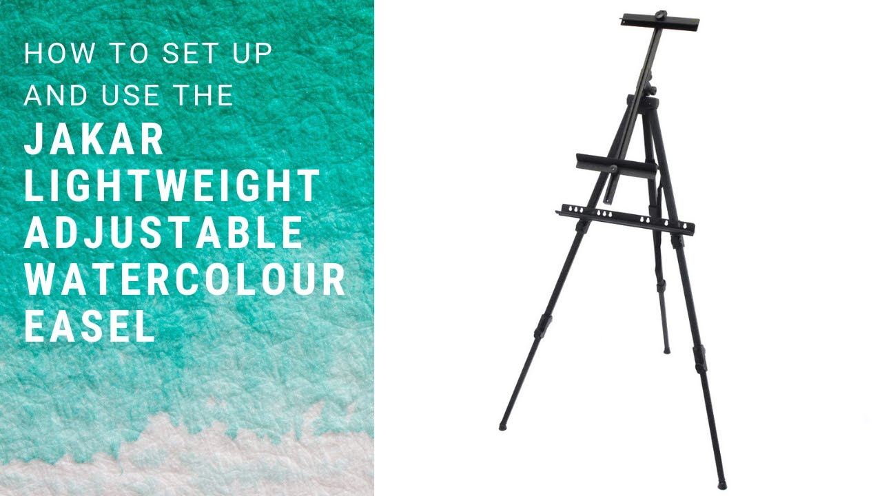 Jakar Lightweight Adjustable Watercolour Easel Youtube