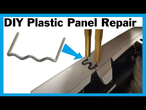 DIY plastic car body panel crack repair using hot staples ( plastic welding )