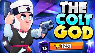 THE COLT GOD! - The Pro Player Pushed To Rank 35 | 1251 Trophies! |  - Brawl Stars!