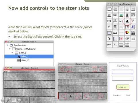Part 3: wxGlade and wxGlue, work in progress for easy GUI development