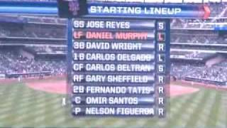 Starting lineups from Mets vs. Brewers 4/19/09 at Citifield