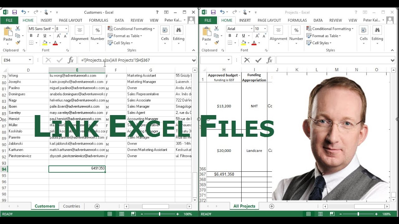 Link Excel Files YouTube – Linking Worksheets in Excel