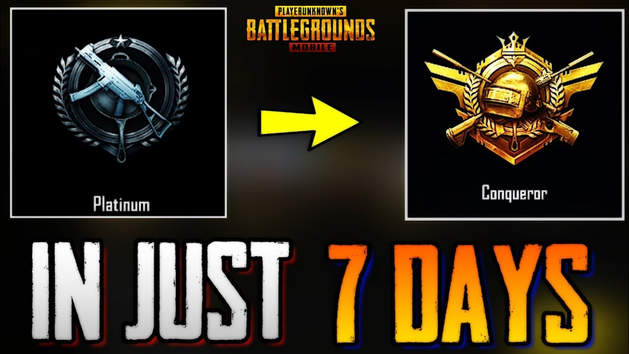 Pubg Wallpaper Conqueror: HOW TO GET CONQUEROR IN 7 DAYS