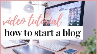 HOW TO START A BLOG IN 2020 | VIDEO TUTORIAL ✨