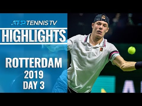 Tsitsipas Stopped; Wawrinka and Shapovalov Advance | Rotterdam 2019 Highlights Day 3