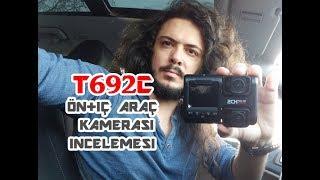 Araç İçini de Kayıt Etmek İsteyenler için; T692C Ön+İç Kayıt Kamerası