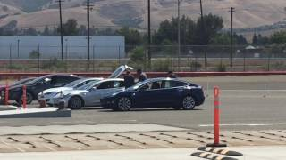 Couple of Tesla Model 3 In Testing
