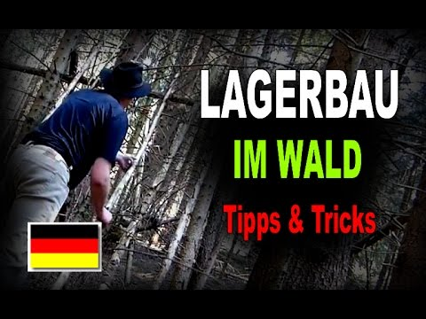 bushcraft lagerbau im wald shelterbau unterschlupf tipps tricks youtube. Black Bedroom Furniture Sets. Home Design Ideas