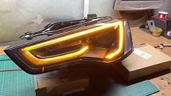 Audi A5 Faceliftscheinwerfer Blinker Umbau TFL-Led Blinker | schwarz lackiert | Tobi3c