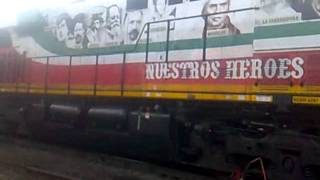 Locomotoras conmemorativas en Empalme Escobedo, Gto.wmv