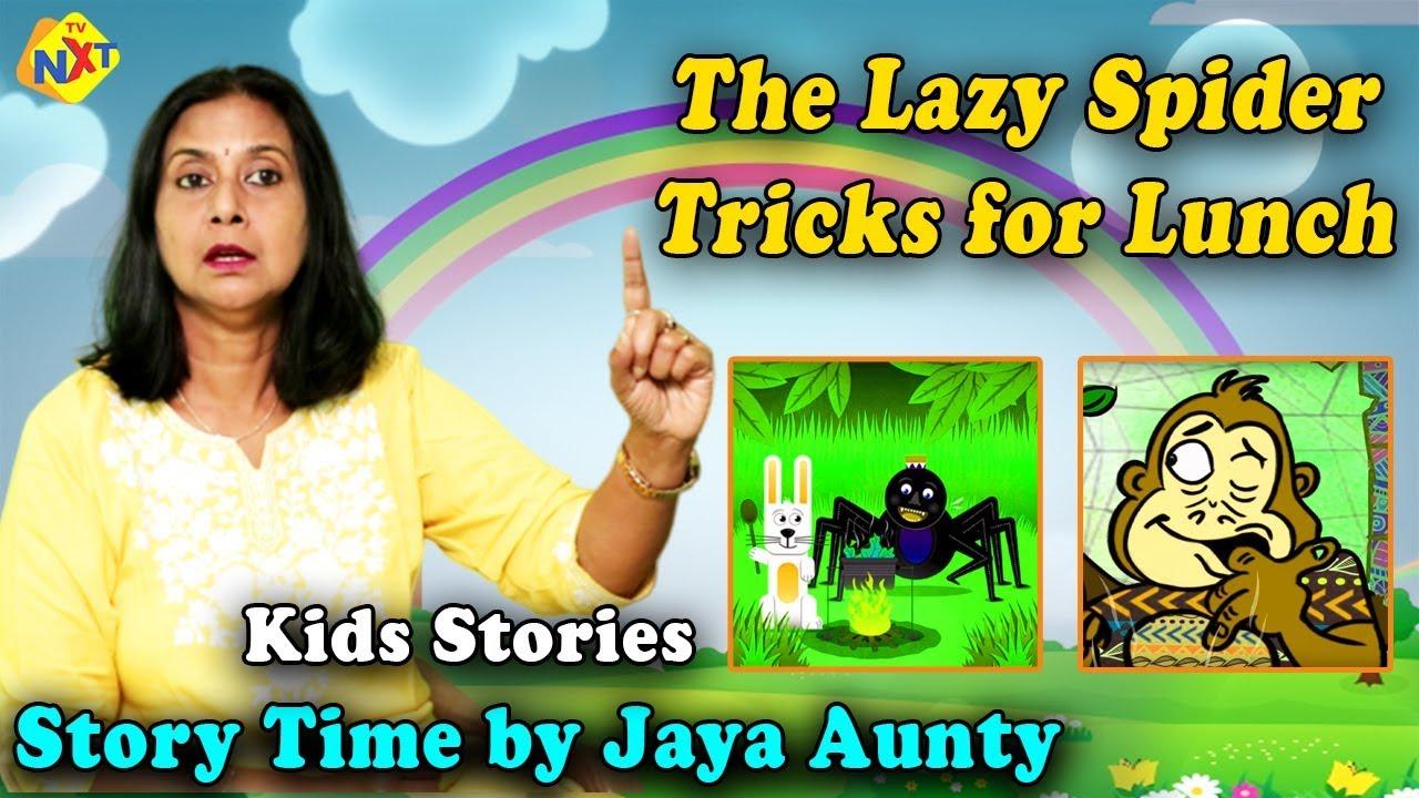 Lazy Anansi Tricks For Lunch Storytime By Jaya Aunty   Story for Kids   Bedtime Stories   TVNXTKidz