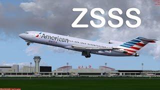 Prepar3D - Captainsim 727-200 ILS approch ZSSS
