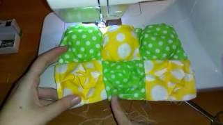 как сшить объемный лоскутный коврик одеяло