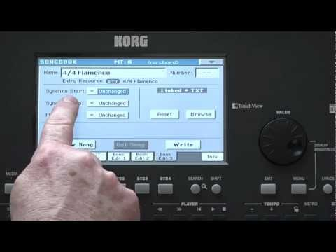 Korg Pa600 Video Manual -- Part 5: Songbook