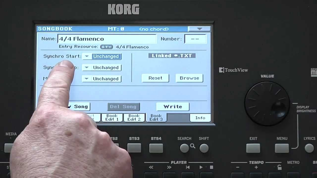Download Korg Pa600 Video Manual -- Part 5: Songbook