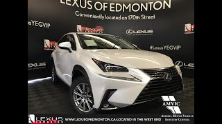 White 2019 Lexus NX 300 Standard Package Review