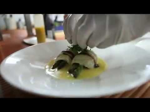 Рецепт салата из морских гребешков с соусом маракуйя