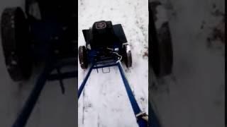 Самоходная косилка для высокой травы ЛопЛош, прототип