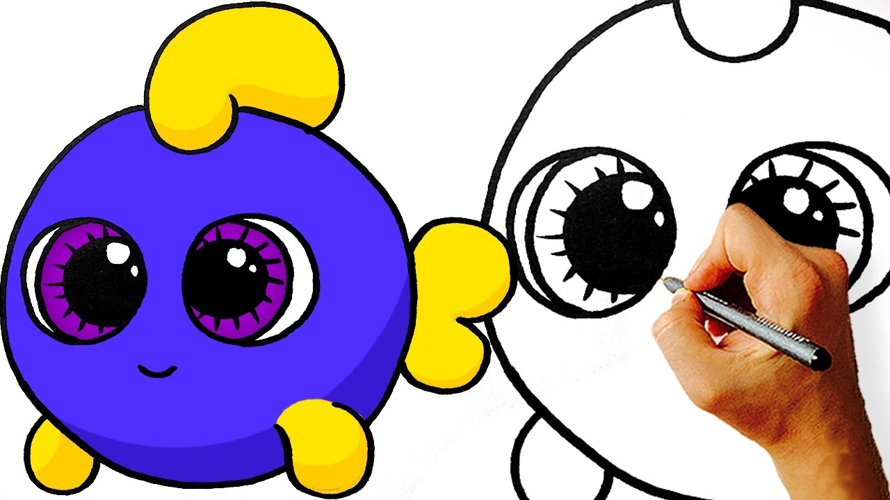 How To Draw Cute Cartoon Fish Step By Step Art For Kids