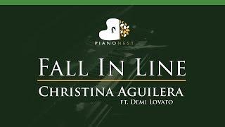 Baixar Christina Aguilera - Fall In Line ft. Demi Lovato - LOWER Key (Piano Karaoke / Sing Along)