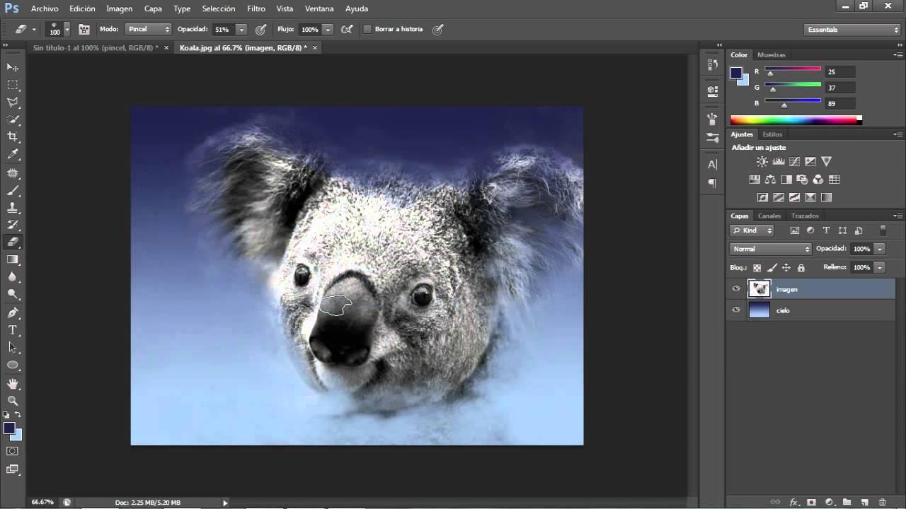 C mo crear im genes de nubes en photoshop youtube - Como hacer una nube ...
