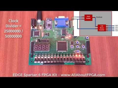 FPGA Tutorial - Binary counter