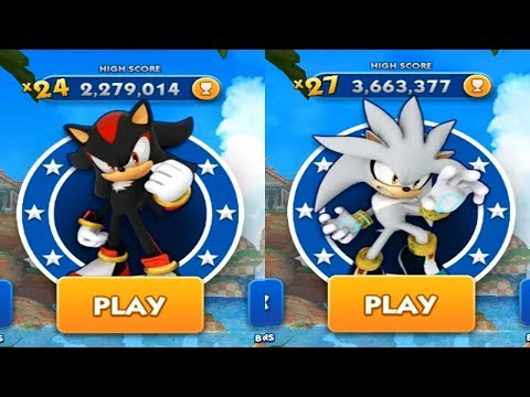 Sonic Dash Android Gameplay - SHADOW VS SILVER