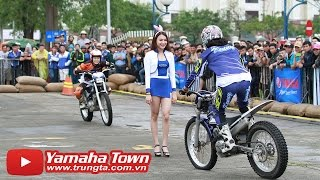 Stunt challenge Slim Beauties of Japanese riders with Yamaha Y15ZR (LC 150) and Yamaha YZF-R3 ✔