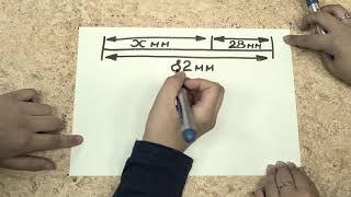 как найти длину отрезка с помощю X