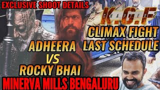 KGF CHAPTER 2 CLIMAX FIGHT SHOOT BEGINS | ROCKY BHAI vs ADHEERA | MINERVA MILLS |YASH vs SANJAY DUTT